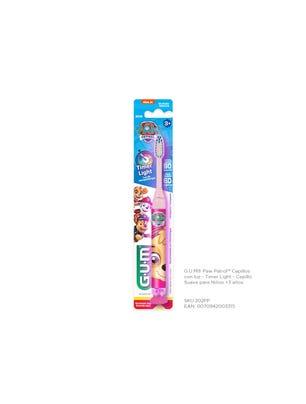 Gum Cepillo Dental Paw Patrol Suave con Luz para Niños +3 años