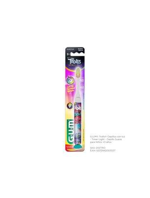 Gum Cepillo Dental Trolls Suave con Luz para Niños + 3 años