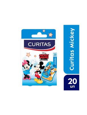 Curitas Aposito Adhesivo con Diseño Mickey 20 un