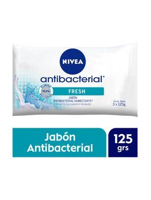 Nivea Jabón en Barra Humectante Antibacterial 3 x 125 gr.