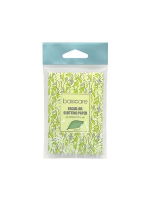 Papeles absorbentes de grasitud facial de té verde