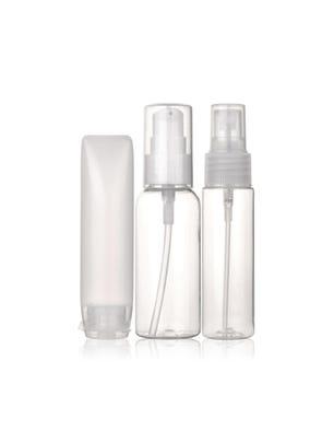 Botellita de viaje + pomo para shampoo