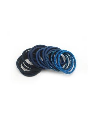 Gomitas para el cabello en tonos azules