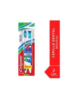 Cepillo Dental Triple Acción Mediano Pack 2x1