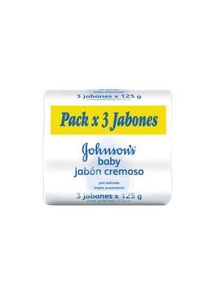 Pack de Jabón en Barra para Bebé Cremoso Tripack x 80 gr.
