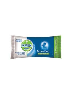 Jabón de Tocador Antibacterial Active Deo 90 gr x 3 un