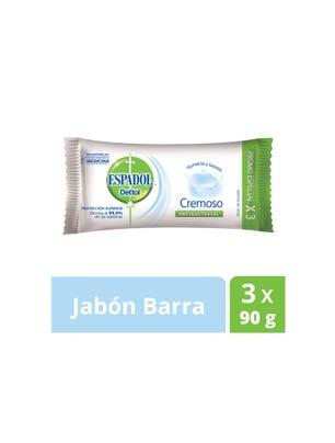 Jabón de Tocador Antibacterial Cremoso 90 gr x 3 un