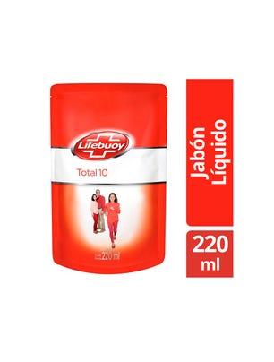 Jabón Líquido Antibacterial Doypack Total 10 220ml
