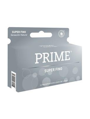 Prime Preservativos de Látex Super Fino Caja 12 un