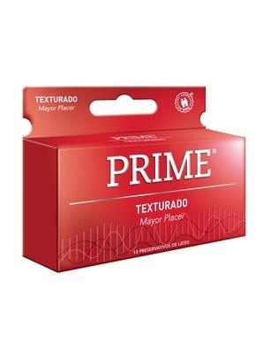 Prime Preservativos de Látex Texturizado Rojo Caja 12 un