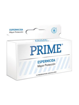 Prime Preservativos de Látex Blanco Espermicida Caja 12 un