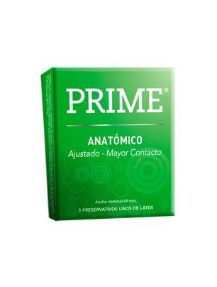 Prime Preservativos de Látex Anatomico Caja 3 un