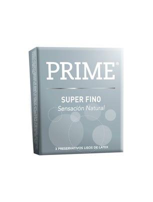 Prime Preservativos de Látex Super Fino Gris Caja 3 un
