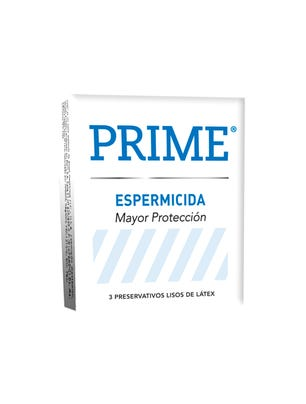 Prime Preservativos de Látex Blanco Espermicida Caja 3 un