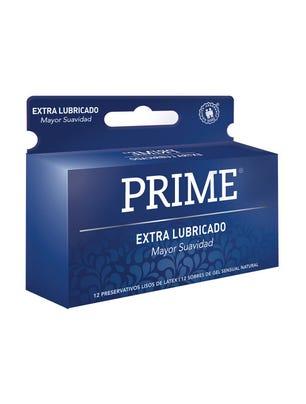 Prime Preservativos de Látex Axul Extra Lubricado Caja 12 un