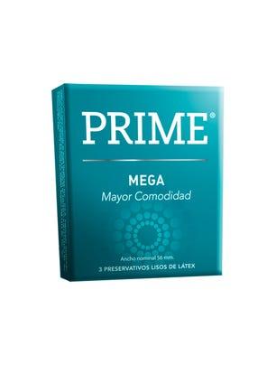 Prime Preservativos de Látex Mega Large Caja 3 un
