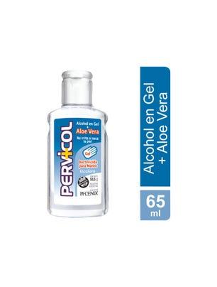 Alcohol en Gel Incoloro con Aloe Vera Bactericida para manos x 65 ml