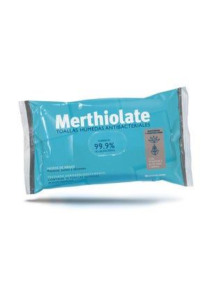 Merthiolate Toallitas Antibacteriales 10 un