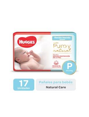 Pañal Natural Care P x 17