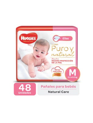 Pañal Natural Care ellas M x 48