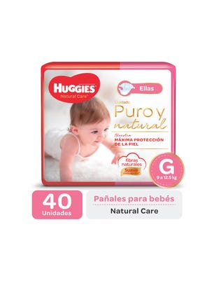 Pañal Natural Care ellas G x 40