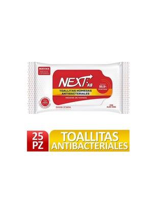 Toallitas Antibacteriales x 25 un