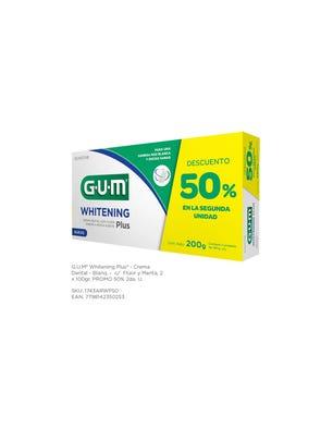 Gum Crema Dental Blanqueadora Flúor y Menta 2 x 100 gr