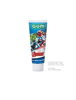 Gum Pasta Dental Avengers para Niños Sabor a Bubble Gum 100 gr