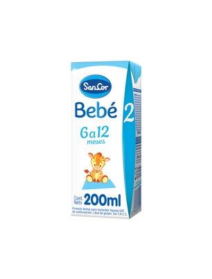 SanCor Bebé Leche Infantil Liquida Sabor Original 200 ml