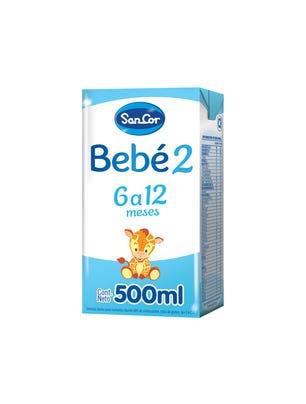 SanCor Bebé Leche Infantil Liquida Sabor Original 500 ml