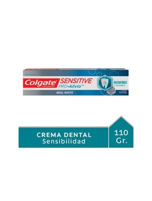 Crema Dental Sensitive Pro Alivio Real White 110 gr