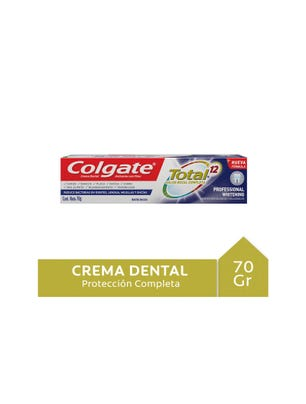 Crema Dental Total 12 Multibeneficios Blancura Avanzada 70 gr