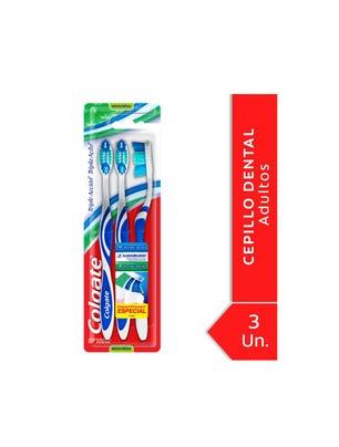 Cepillo Dental Triple Acción Mediano Pack x3