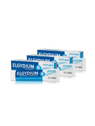 Combo Elgydium Anti Placa Pasta Dentifríca 75ml x 3 Unidades