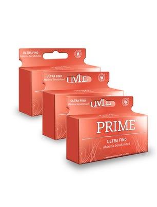 Pack 3 Prime Profilácticos Ultra Finos 12 Unidades